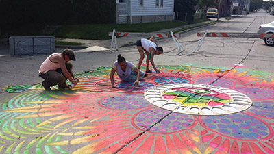 Sidewalk Chalk Drawings and artists